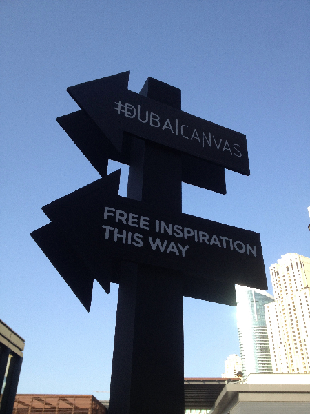 Dubai Canvas Signage